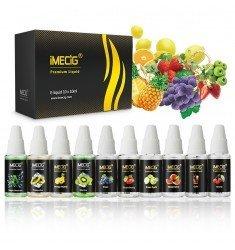 IMECIG® E liquid 10 Pack x 10ml Premium Mix Multi Fruit Flavours E juice, No Nicotine