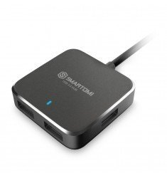 4 Port USB 3.0 Black Hub