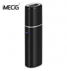 IMECIG L1 Electronic Cigarettes Starter Kit Compatible with IQOS 2200mAh Rechargeable Battery 30 seconds Preheating Vibration Type Automatic Clean (Black)