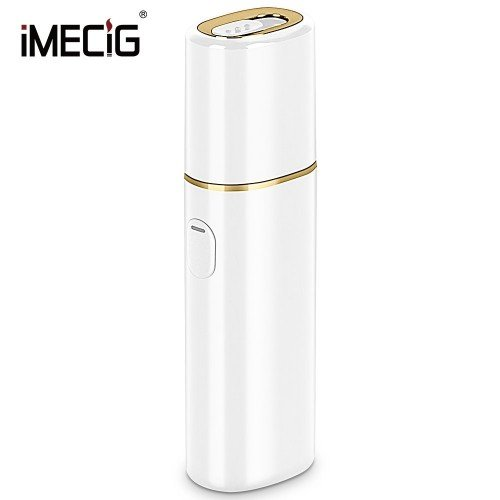 IMECIG L1 Electronic Cigarettes Starter Kit Compatible with IQOS 2200mAh Rechargeable Battery 30 seconds Preheating Vibration Type Automatic Clean (White)