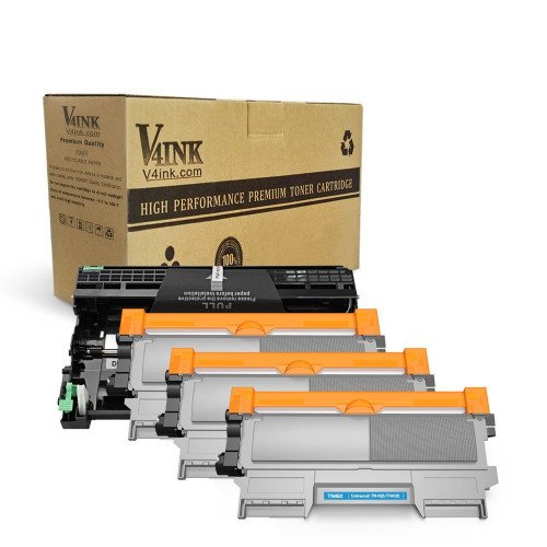 Brother TN450 & DR420 Compatible High Yield 4-Piece Combo Pack (3 Toner + 1 Drum)