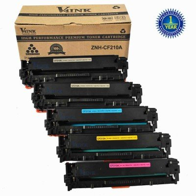 HP CF210A Compatible Toner Cartridge - 5 Packs